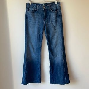7 For All Mankind Ginger Distressed wash Wide Leg Jeans